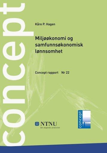 Miljøøkonomi og samfunnsøkonomisk lønnsomhet - Concept - NTNU