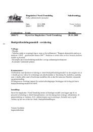 Budsjettfordelingsmodell - revidering - Høgskolen i Nord-Trøndelag