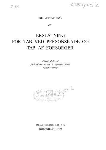 Betænkning nr. 679 om erstatning for tab ved personskade og ... - Krim