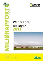 miljørapporten fra Weber Leca Rælingen