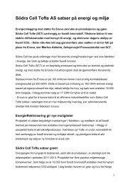 HER kan du lese pressemeldingen fra Södre Cell ... - Fellesforbundet