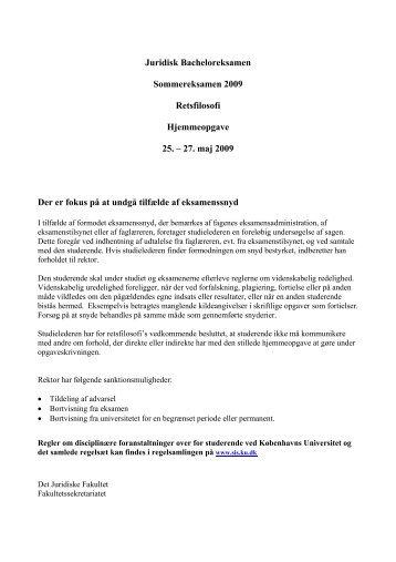 Eksamensopgave - Det Juridiske Fakultet - Københavns Universitet