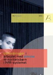 Udfordringer i arbejdet med etniske minoritetsbørn i ... - Als Research