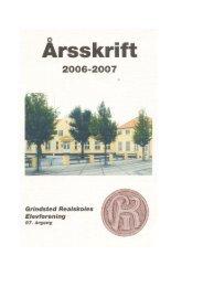 Arsskrift - Grindsted Kost –og Realskoles Elevforening