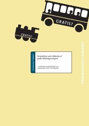 Perspektiver ved indførelse af gratis offentlig transport - Teknologirådet