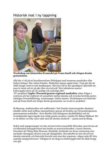 Historisk mat i ny tappning - UCR