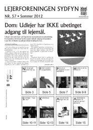 Udlejer har IKKE ubetinget adgang til lejemål. - Danmarks ...