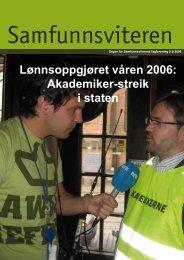 Samfunnsviteren 2/2006 - Samfunnsviterne