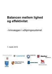 Balancen mellem lighed og effektivitet - Rødovre Kommune
