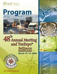 Program - Society of Toxicology