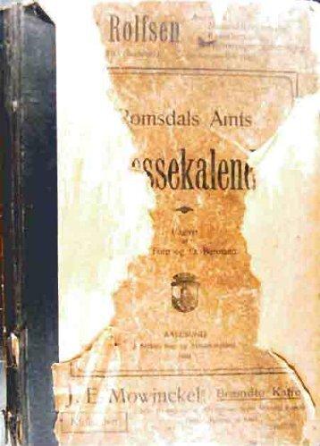 Adressebok 1900 (tekst / 2,7 mb) - Romsdal Sogelag