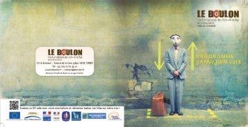 Programme du Boulon à télécharger en PDF - Le Boulon