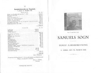 Samuels Sogn 5. årsberetning - Kingo-Samuel