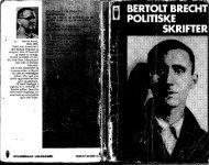 1928-1956 Bertolt Brecht. Politiske Skrifter - Gaderummet