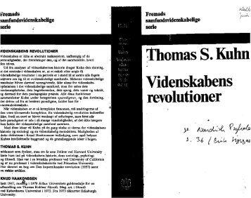 1973 Thomas S. Kuhn. Videnskabens revolutioner ... - Gaderummet