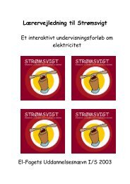 Lærervejledning til Strømsvigt - EVU