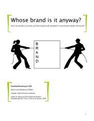 Whose brand is it anyway? - PURE - Aarhus Universitet