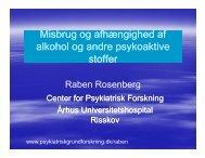 Misbrug og afhængighed af alkohol og andre psykoaktive alkohol ...
