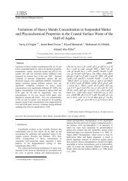 Variations of Heavy Metals Concentration in Suspended Matter and ...