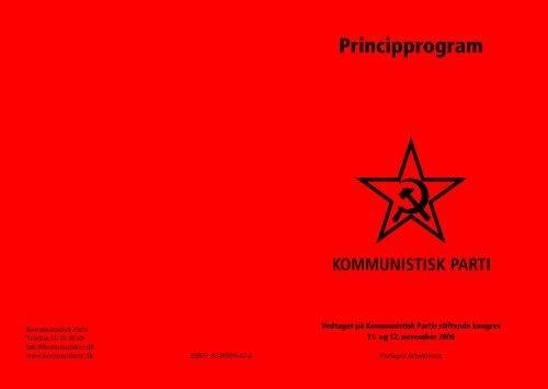 Principprogram Kommunistisk Parti - Kommunister.dk