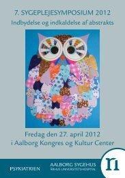 7. SYGEPLEJESYMPOSIUM 2012 Fredag den 27. april ... - PURE