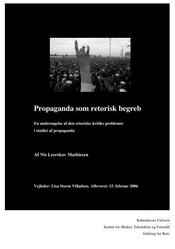 Propaganda som retorisk begreb - Nis Leerskov Mathiesen