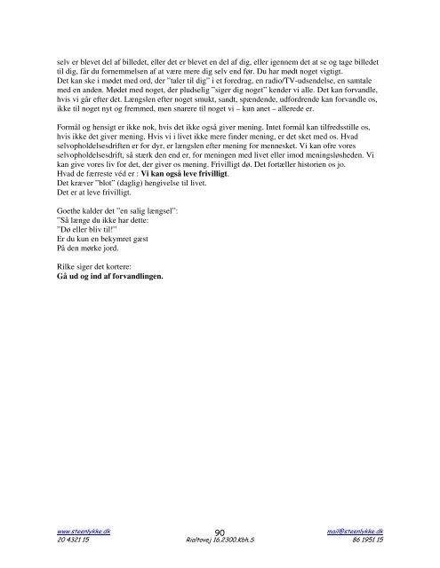 Kompendium: ART SPIRIT COACHING - Steen Lykke.dk