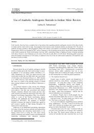 Use of Anabolic Androgenic Steroids in Jordan: Mini- Review