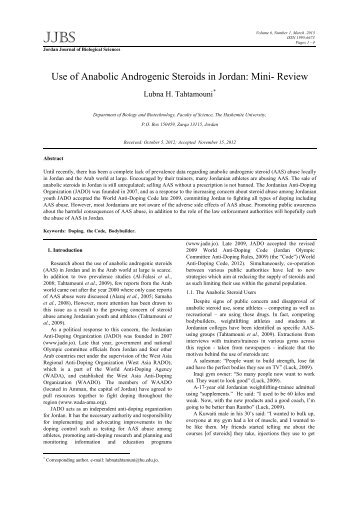 an analysis of the use of anabolic steroids in modern sports News about steroids in sports, including commentary and archival articles published in the new york times.
