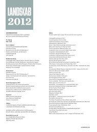 LANDSKAB 2012 Index - Arkitektens Forlag