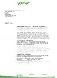 Ændringer i tv-pakkerne og nye priser 1. januar 2011 - EF1386