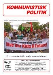 Nr. 16 2011 - Kommunistisk Politik