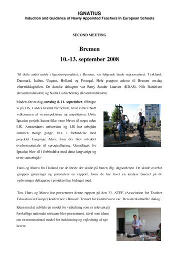 Bremen 10.-13. september 2008 - the IGNATIUS project