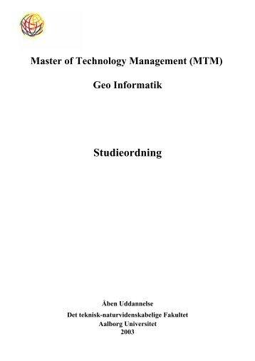 Studieordning - Administrationen på AAU - Aalborg Universitet
