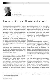 Grammar in Expert Communication - OpenArchive@CBS