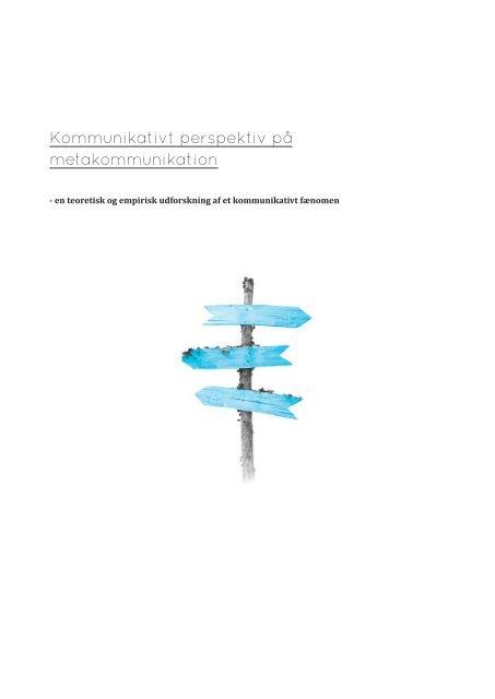 Kommunikativt perspektiv på metakommunikation metakommunikation ...