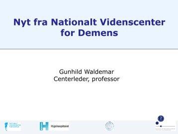 Gunhild Waldemar, professor, leder af Nationalt Videnscenter for ...