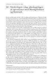 planlægningen af operationer mod Slesvig-Holsten og Danmark - DIIS