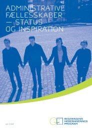 Administrative fællesskaber - status og inspiration - Finansministeriet