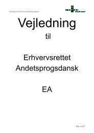 Vejledning til Erhvervsrettet Andetsprogsdansk - EA - Emu