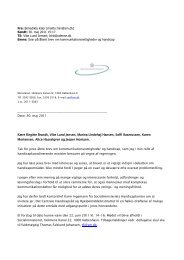 Tidl. socialminister Benedikte Kjærs reaktion på Åbent brev
