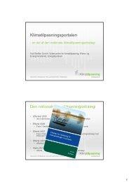 Den nationale klimatilpasningsstrategi og klimatilpasningsportalen