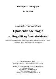 Kære alle, familie, kolleger, venner, studerende - Sociologi - Aalborg ...