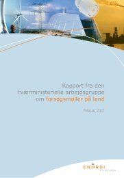Rapport fra den tværministerielle arbejdsgruppe - Energistyrelsen