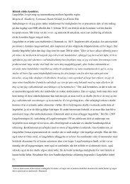 Klinisk etiske komitéer. Lægeløftet, lovgivning og sammenhæng ...