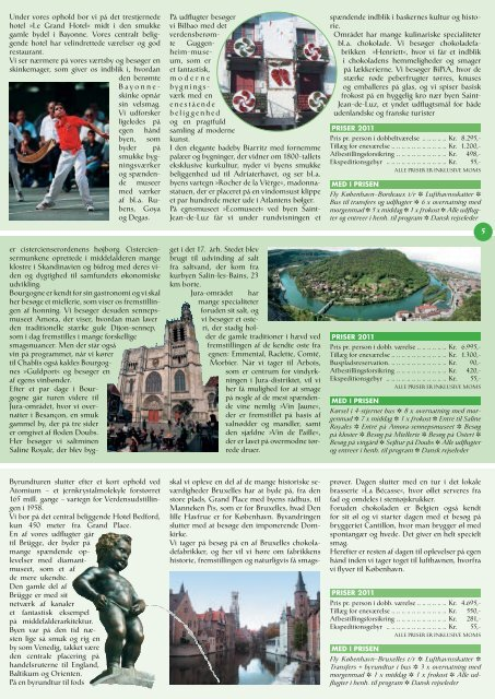 OPERA VELVæRE GASTRONOMI KRYDSTOGT ... - GIBA Travel