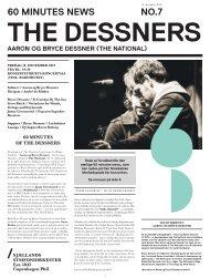 60 minutes of The Dessners avis / 14. december ... - Copenhagen Phil