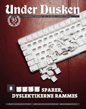 sparer, dyslektikerne rammes - Under Dusken
