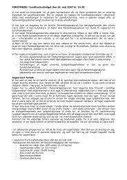 Fortræde i sundhedsudvalget - PS Landsforening