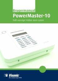 D-303027 PowerMaster-10 Brugermanual - Visonic